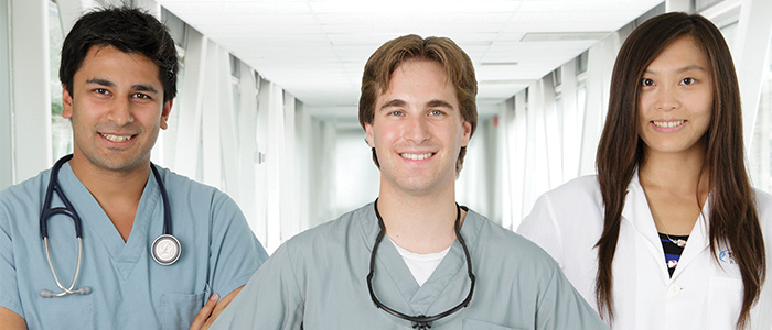 Male and female medical staff