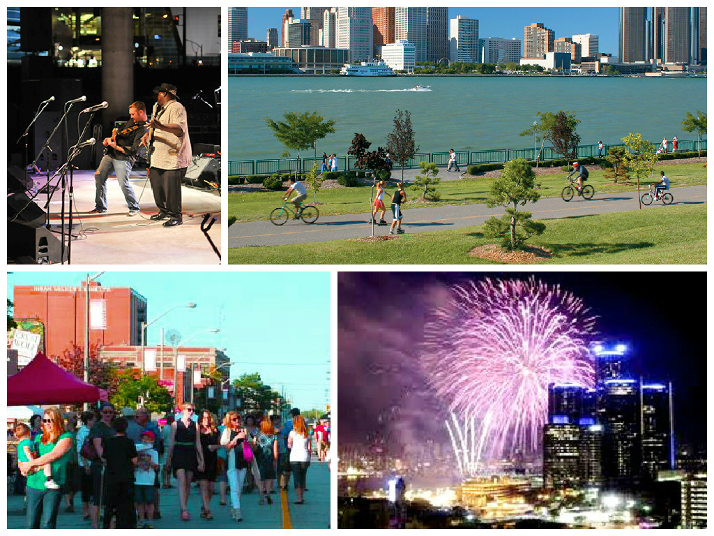 Collage of events and public spaces