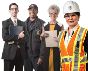 Male and female municipal employees