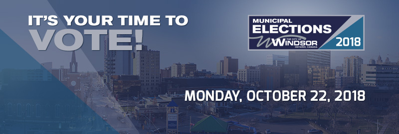It's your time to vote, Monday, October 22, 2018