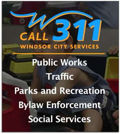 Call 311 for Windsor City Services