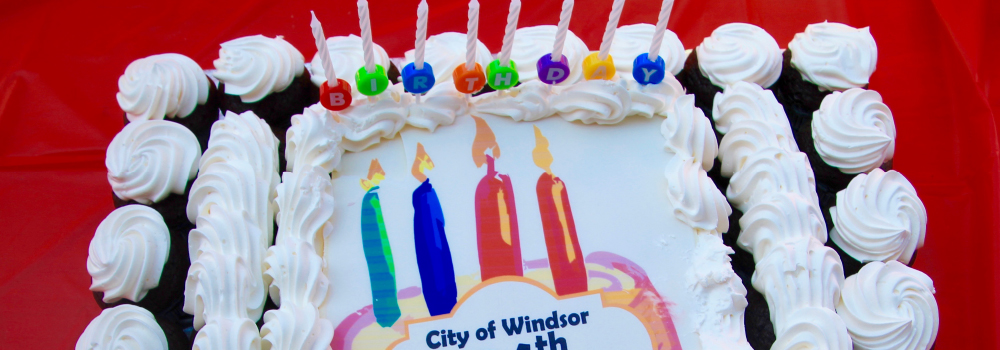 City of Windsor birthday cake