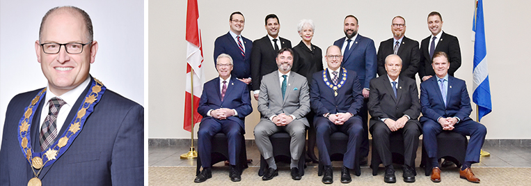 Portraits of Mayor Dilkens and City Council