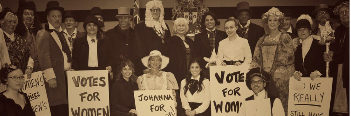 Windsor City Council, staff and guests dress up to re-enact an 1892 Council Meeting