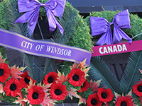 City of Windsor and Canada Wreath at the Cenotaph
