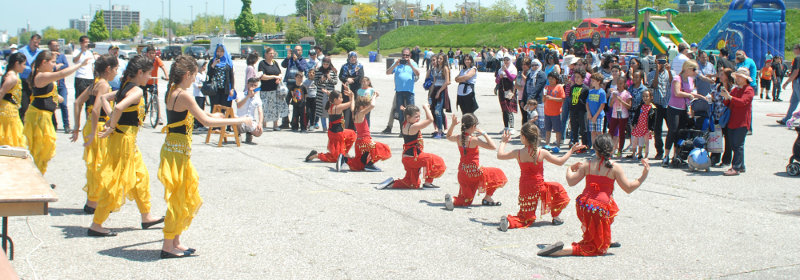 Cultural Dancers perform at Festival Plaza