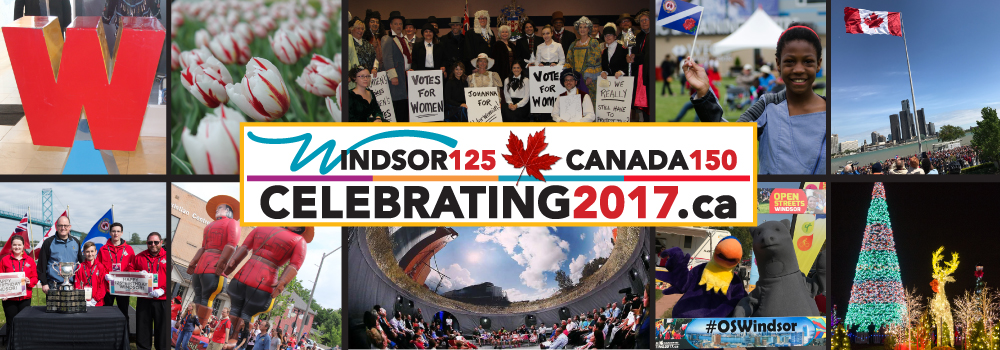 Collage of Photos from Windsor's 125th Birthday year