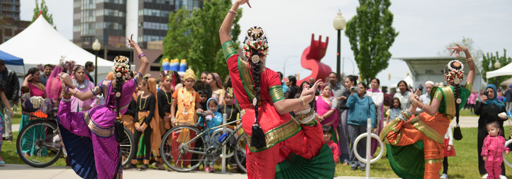 Cultural Dancers perform at Windsor's 125th Birthday Celebration in May 2017
