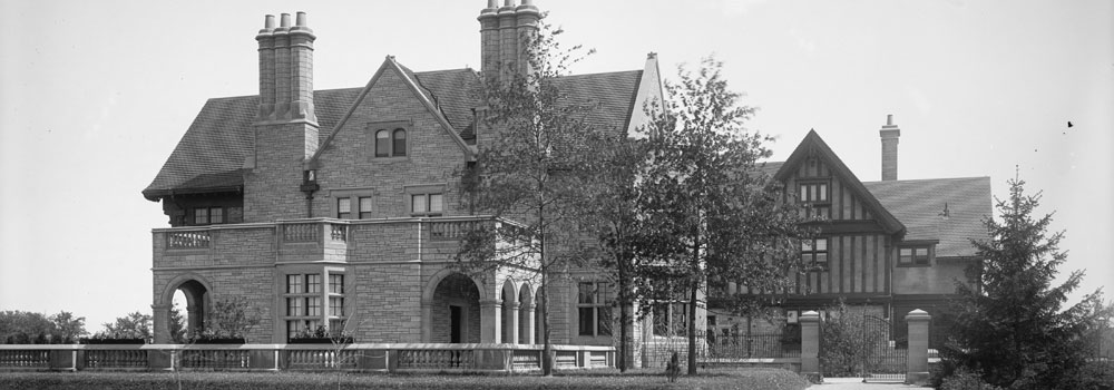 Willistead Manor, Vintage Black and White Photograph of the manor