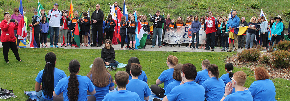 Windsor Essex Youth Choir performs in the Windsor Sculpture Park, 2019
