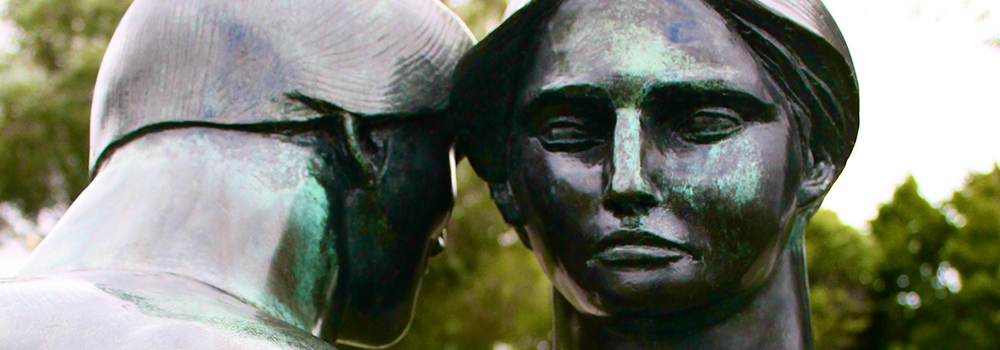 """Consolation"" sculpture in the Windsor Sculpture Park"