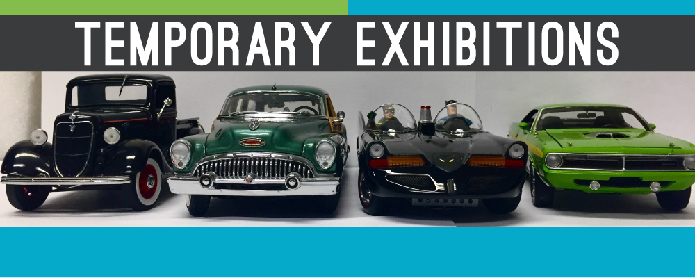Image of cars from the Diecast from the Past exhibition at the Chimczuk Museum