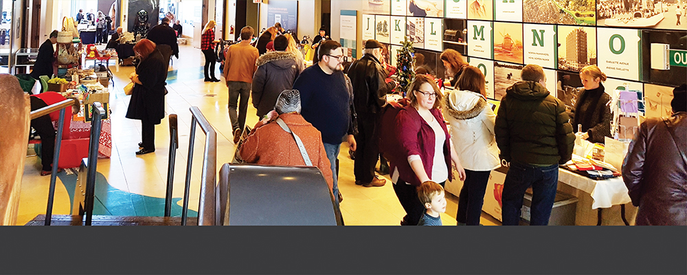 Guests explore the 2018 holiday arts and crafts sale at Museum Windsor