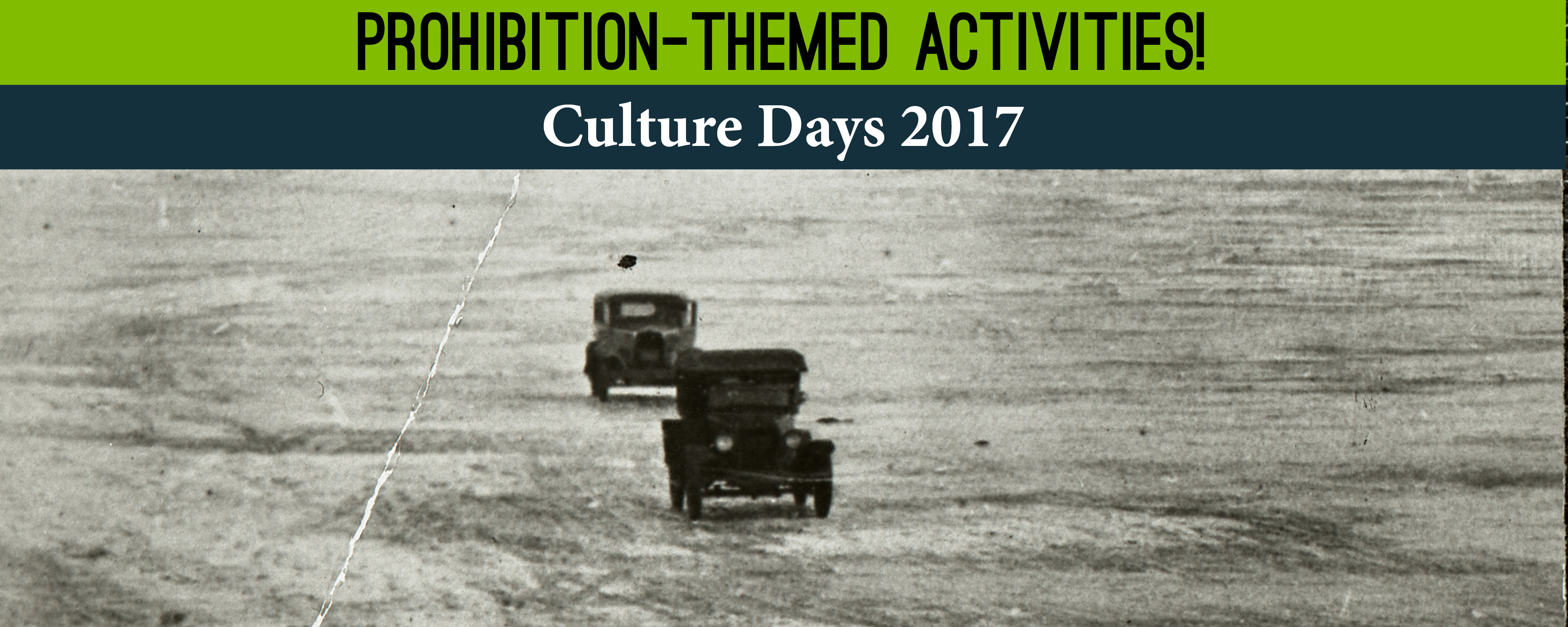Prohibition Culture Days September 30, 2017