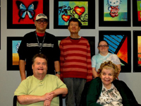 Creative Brush Strokes participants