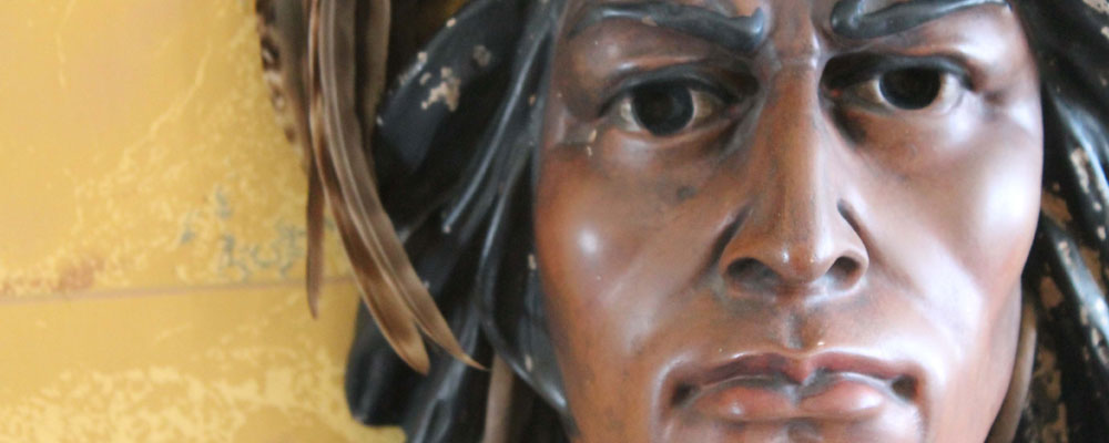 Chief Tecumseh Bust at Duff-Baby Interpretation Centre