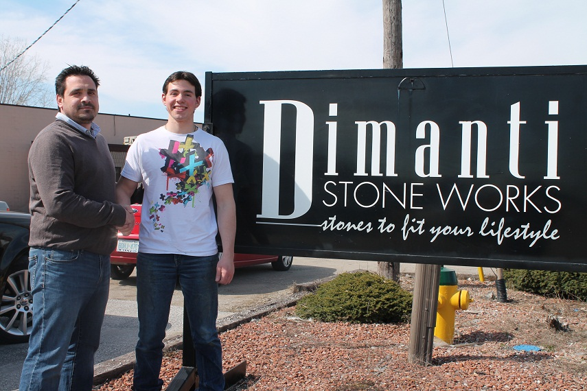 Client and employer at Dimanti Stone Works