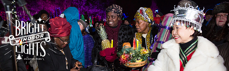 Guests representing a variety of cultural celebrations at opening ceremony