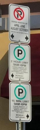 Parking signs as detailed above