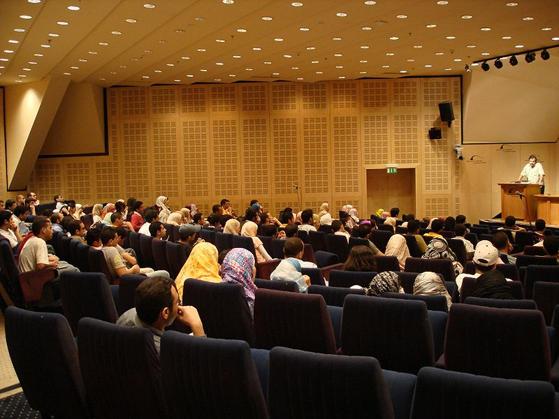 Speech in an auditorium