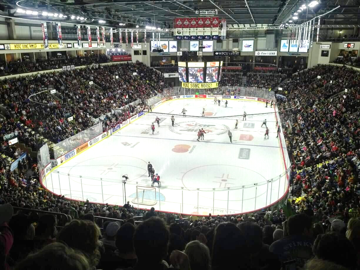 Hockey game at the WFCU Centre