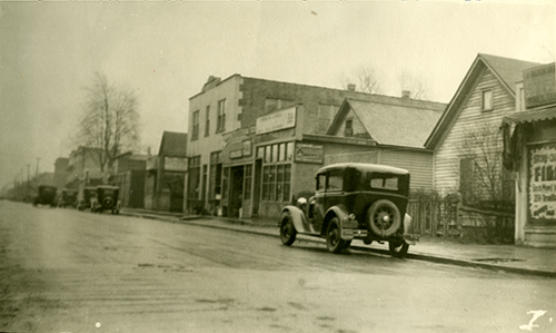 Looking south on Drouillard Rd. from Edna Street, ca. 1930.