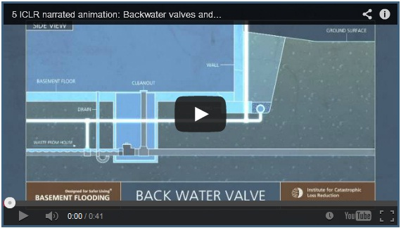 Backwater valves and disconnecting foundation drains video