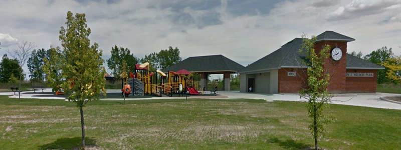 Play unit and buildings at Captain Wilson Park