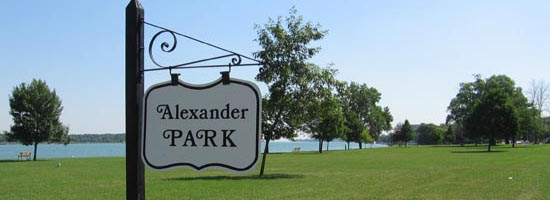 a close shot of the alexander park area