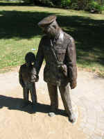 Statue of Alton Parker and child