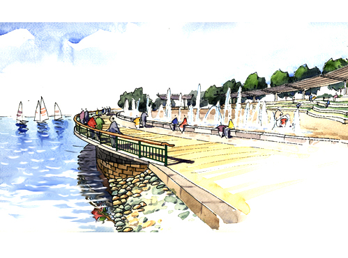 Riverfront concept drawing