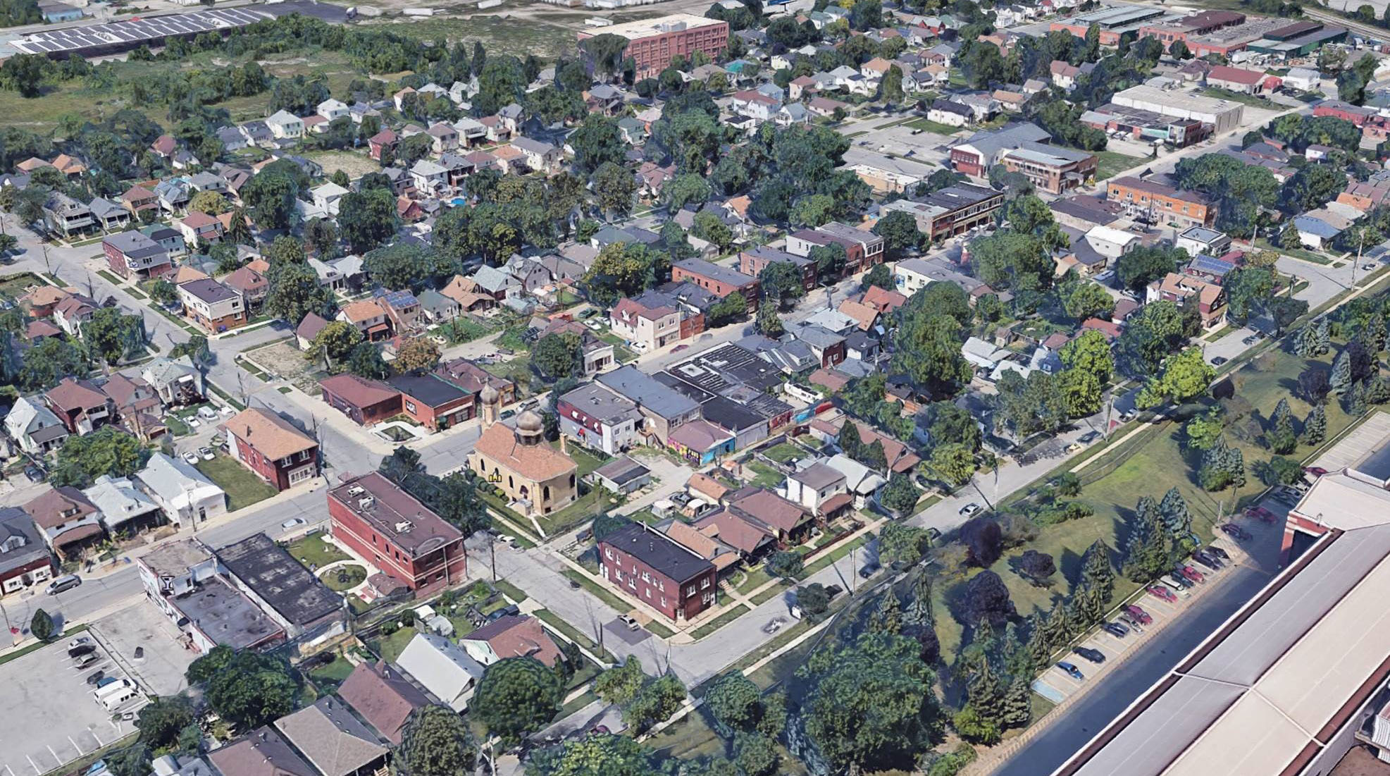 Overhead view of Ford City