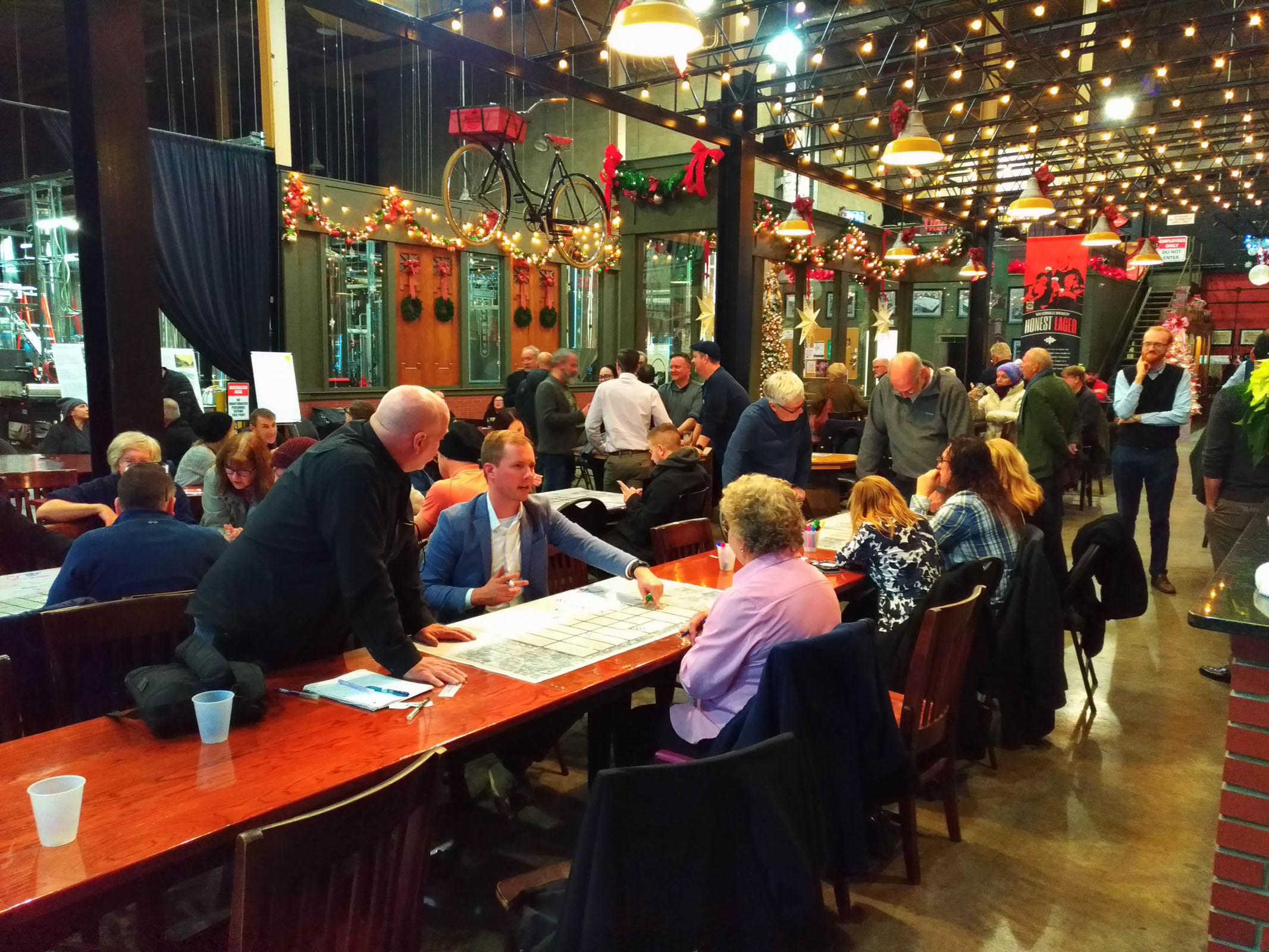 Visioning workshop discussions at the Walkerville Brewery in December, 2019