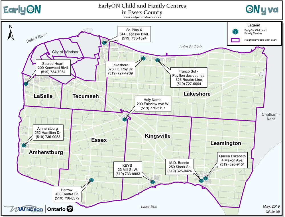 EarlyON Centres Essex County Locations
