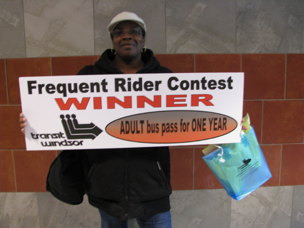 Frequent Rider Contest Winner