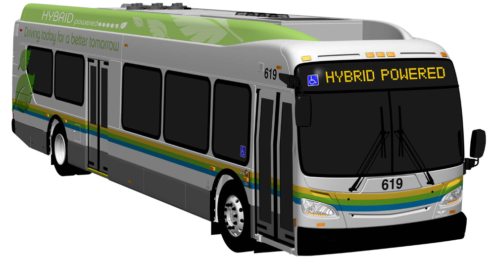 Hybrid powered Transit bus