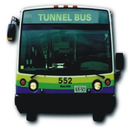 front view of the Tunnel Bus