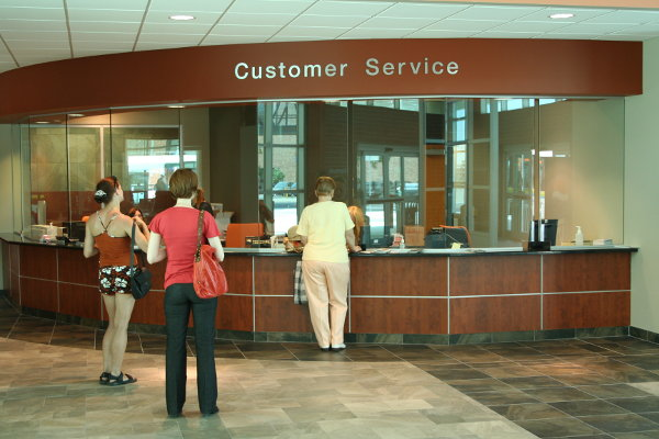 Transit terminal customer service desk