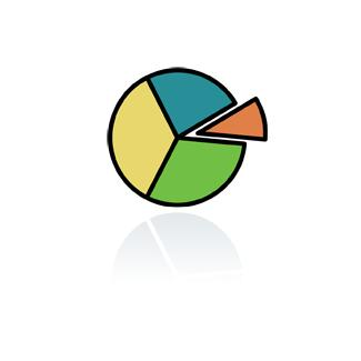 Cartoon of a pie chart